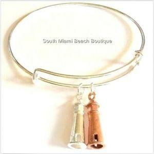 Jewelry - Silver Copper Lighthouse Charm Bracelet Nautical